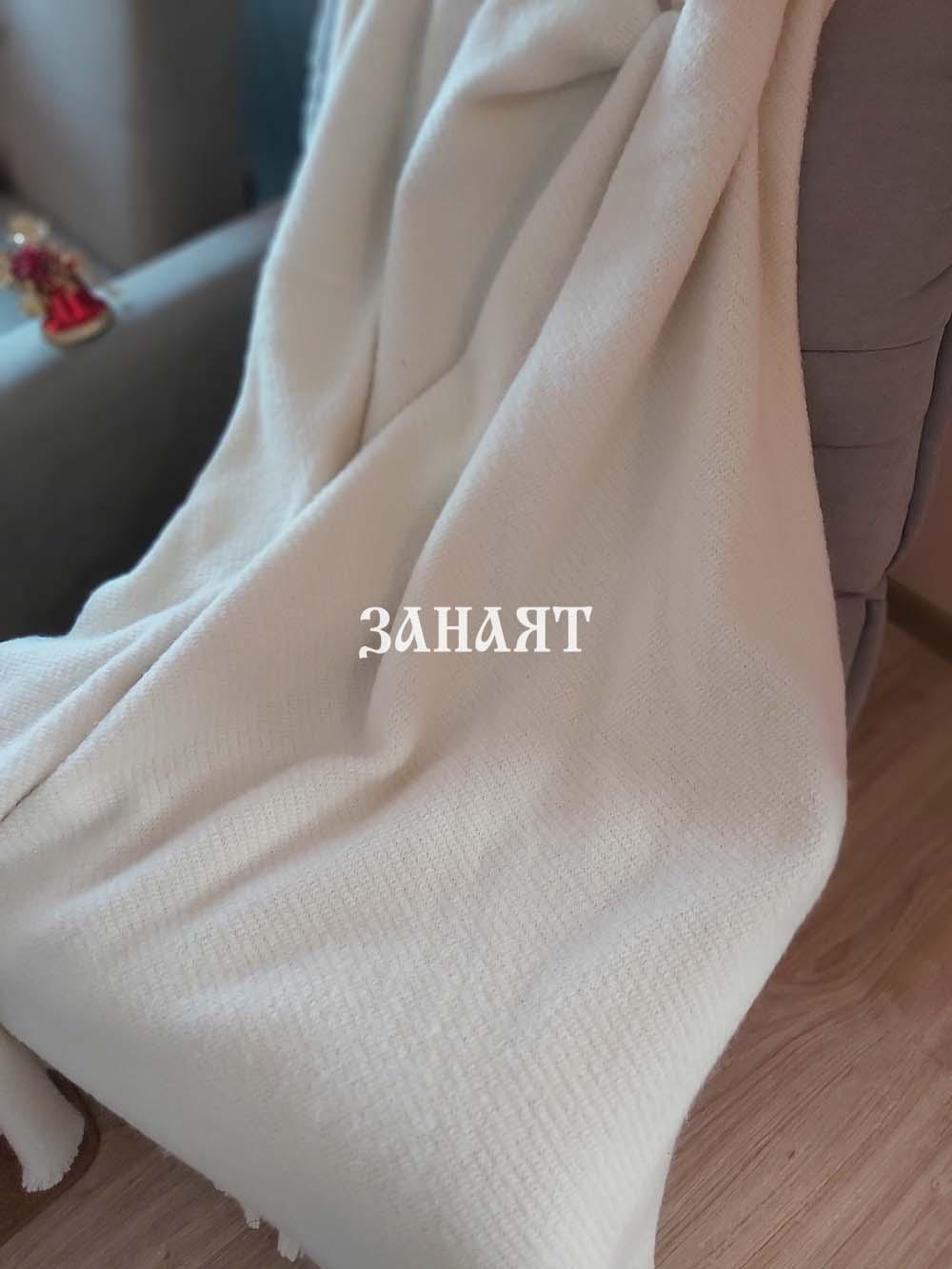 Одеяло агнешка вълна бяло