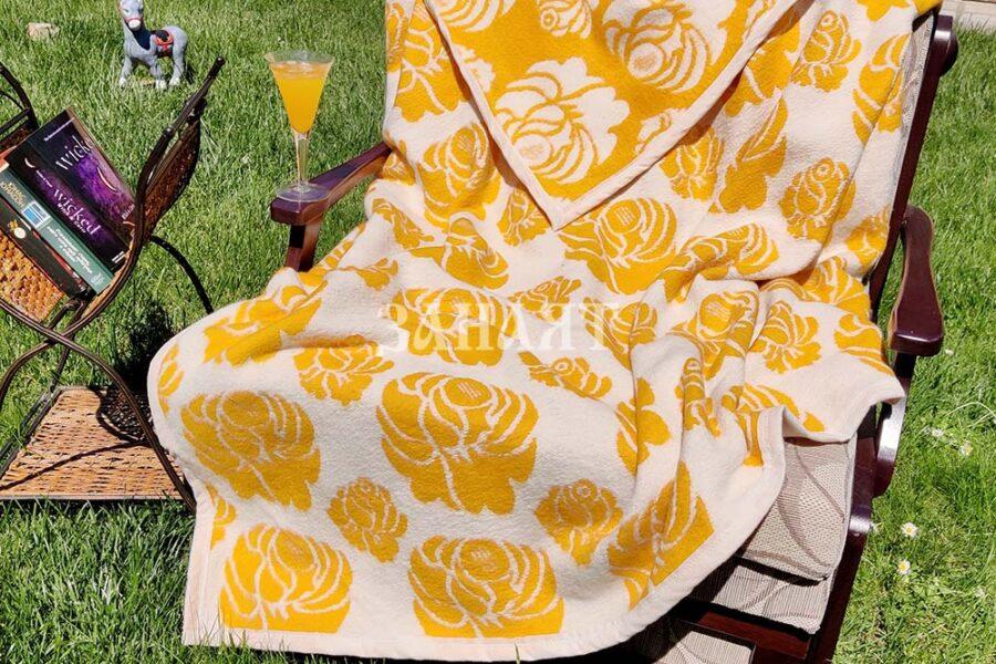 Памучно одеяло на цветя -100% памук